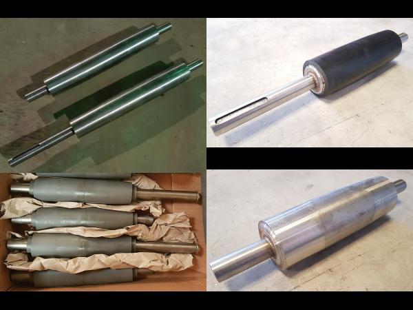 Rouleaux de rechange acier, pvc, inox, caoutchouc